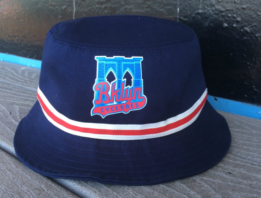bucket hat - brooklyn cyclones - 6-21-2016
