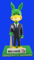 maynard bobble-election bobblehead - madison mallards - 7-30-2016