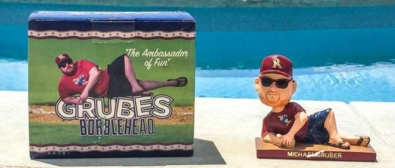 michael gruber bobblehead - frisco roughriders - 7-7-2016