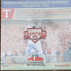 pin - texas rangers - 6-9-2016