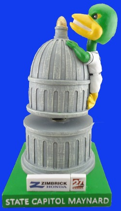 state capitol mallards bobblehead - madison mallards - 6-16-2016