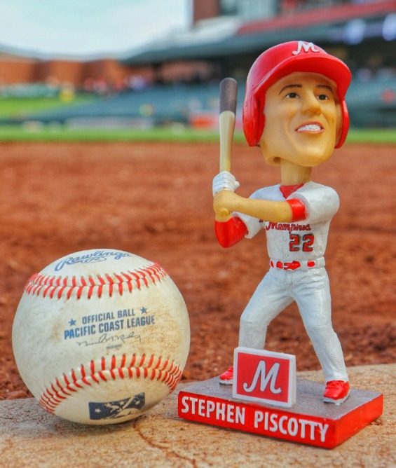stephen piscotty bobblehead - memphis redbirds - 7-23-2016