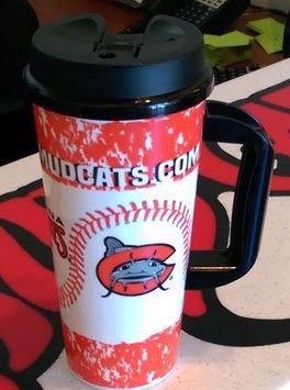 travel mug - carolina mudcats - 6-18-2016