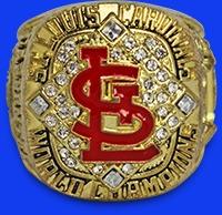 2006 cardinals replica world series ring - springfield cardinals - 7-30-2016