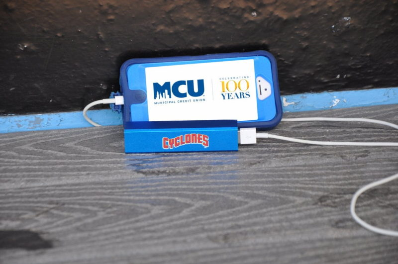 Brooklyn Cyclones Portable Phone Charger 7-15-2016
