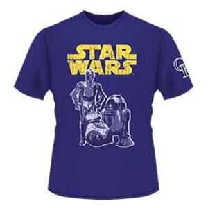 Colorado Rockie STAR WARS Night T-Shirt 7-23-2016