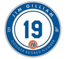 Image result for #19 Jim Gilliam retired pin number