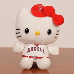7fc290629 August 18, 2016 Los Angeles Angels - Hello Kitty Plush Toy - Stadium ...