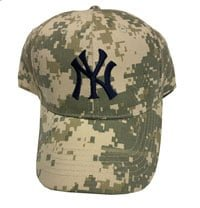 New York Yankees Camo Baseball Cap 7-23-2016