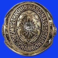 St Louis Cardinals  Replica 1926 World Series Championship Ring 7-1-2016