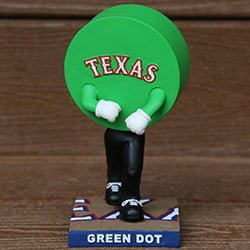 Texas Rangers Green Dot Bobblehead 7-31-2016