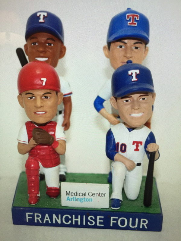 Texas Rangers Rangers Franchise 4 Bobblehead 6-30-2016