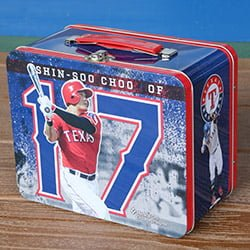 Texas Rangers Shin-Soo Choo Tin Lunch Box 7-9-2016