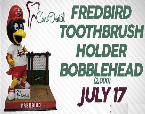 fredbird toothbrush holder - springfield cardinals - 7-17-2016