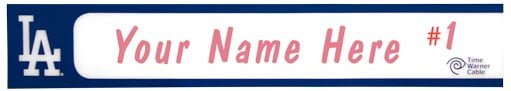 kids locker nameplate - los angeles dodgers - 7-6-2016