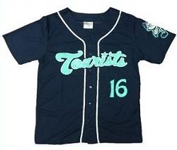 replica navy jersey - asheville tourists - 7-9-2016