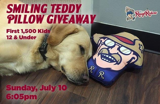 teddy pillow case - frisco roughriders - 7-10-2016
