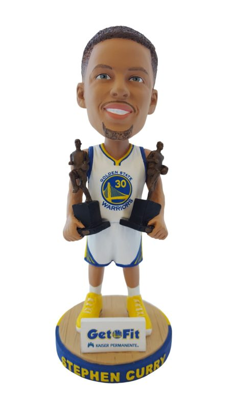 Golden State Warriors Stephen Curry Back-to-Back MVP Bobblehead 10-4-2016