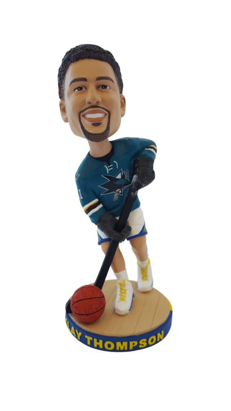 Golden State Warriors Thompson San Jose Sharks Edition Bobblehead 10-9-2016