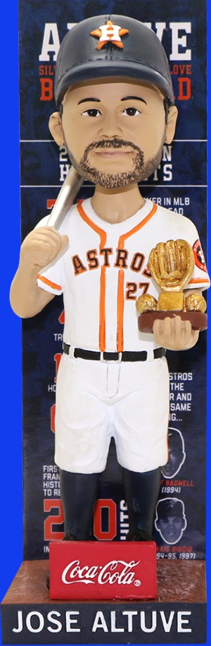 Houston Astros Jose Altuve Gold Glove Silver Slugger Bobblehead 8-27-2016