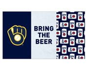 Milwuakee Brewers Beach Towel 8-27-2016