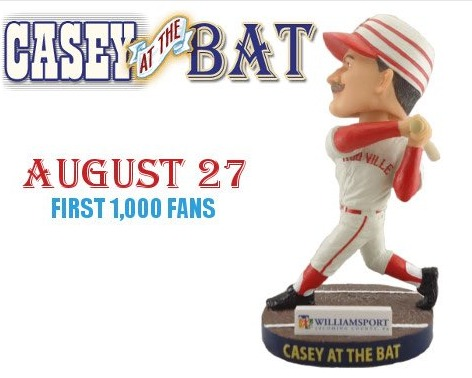 casey at the bat bobblehead - williamsport crosscutters - 8-27-2016