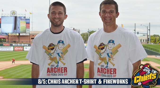 chris archer tshirt - peoria chiefs - 8-5-2016
