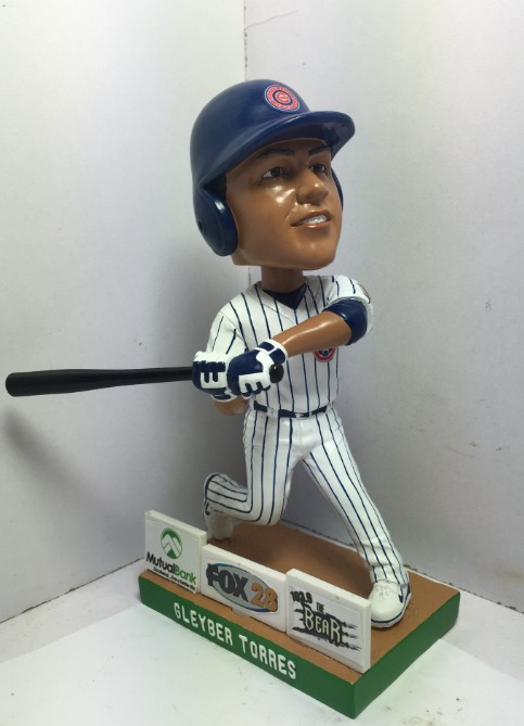 gleyber torres bobblehead - south bend cubs - 8-3-2016