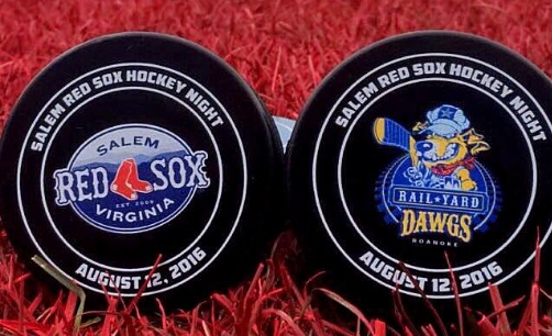 hockey puck - salem red sox - 8-12-2016