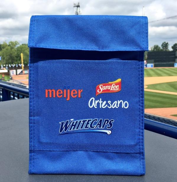 lunch bag - west michigan whitecaps - 8-20-2016