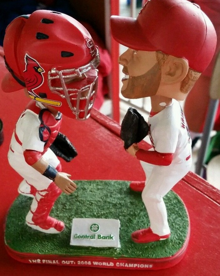 molina wainwright bobblehead - springfield cardinals - 8-27-2016