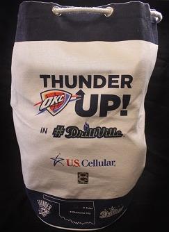 okc thunder beach bag - tulsa drillers - 8-13-2016