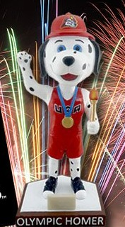 olympic homer bobblehead - peoria chiefs - 8-12-2016