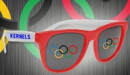 patriotic sunglasses - ceder rapids kernals - 8-5-2016