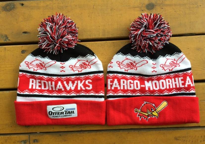 ugly beanie hat - fargo moorhead redhawks - 8-13-2016