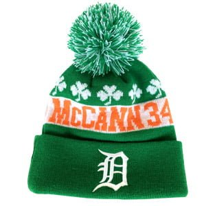 Detroit Tigers James McCann Green Knit Hat 9-14-2016
