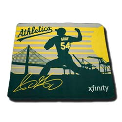 Oakland Athletics Sonny Gray Fleece Blanket 9-5-2016