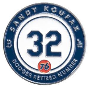 sandy koufax pin - los angeles dodgers - 9-4-2016
