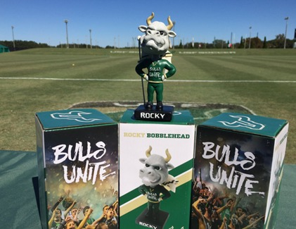 rocky-mascot-bobblehead-university-of-south-florida-womens-soccer-10-23-2016