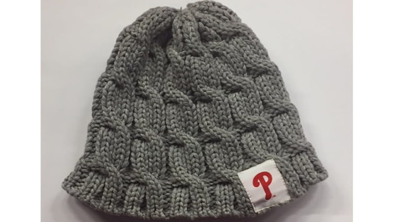 Knit Hat Stitch Calculator : August 23, 2017 Philadelphia Phillies - Stitch n Pitch Knit Hat