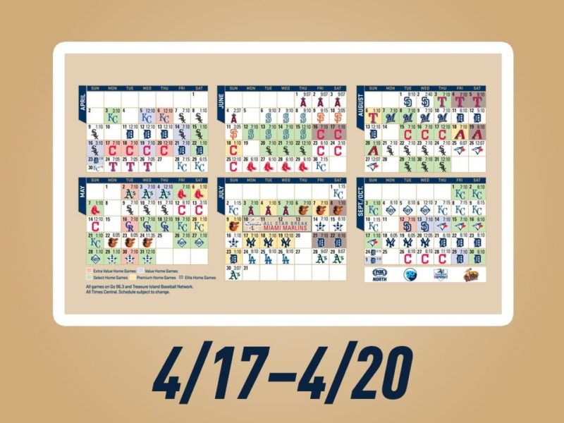 April 19 2017 Minnesota Twins Magnet Schedule Stadium Giveaway Exchange