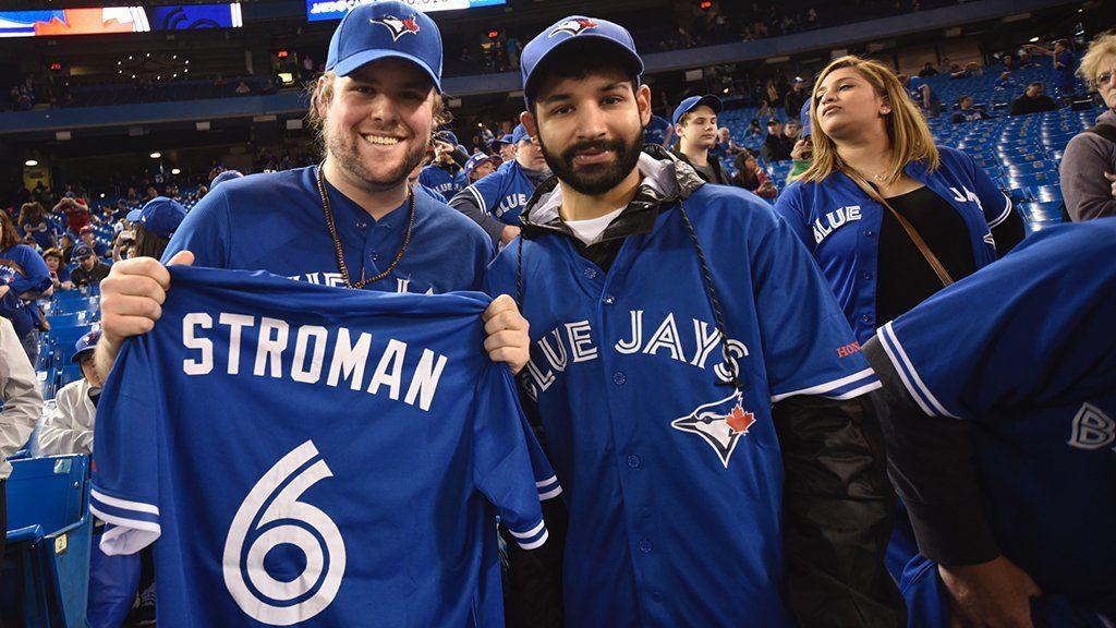 newest b1e20 93264 April 30, 2017 Toronto Blue Jays - Marcus Stroman Blue ...