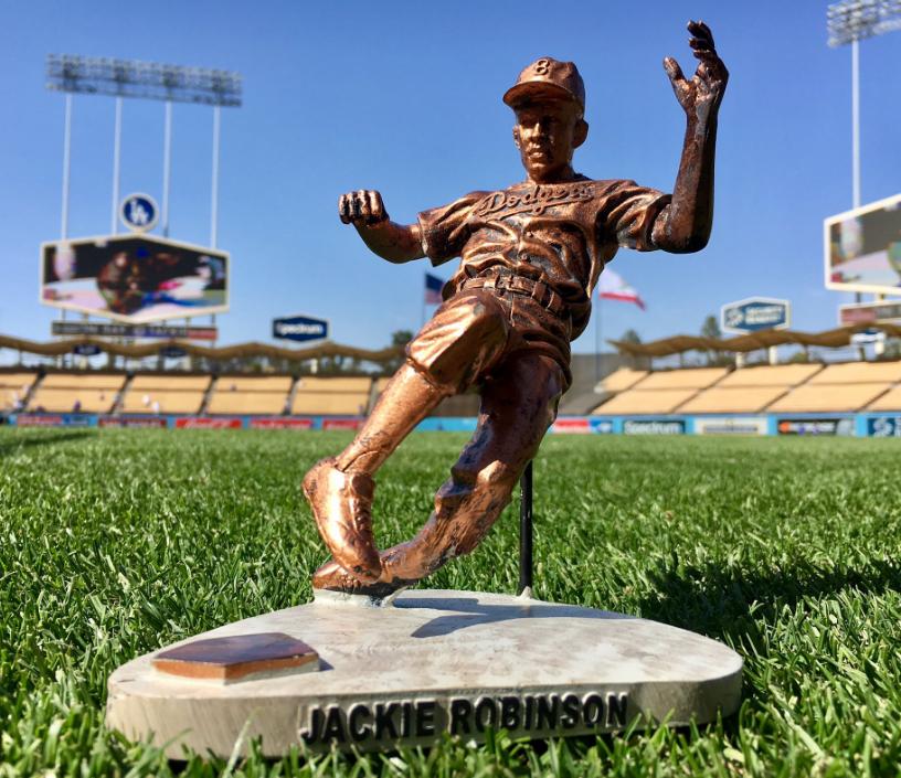 April 15, 2017 Los Angeles Dodgers - Replica Jackie Robinson Statue -