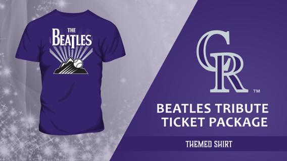 Colorado Rockies Beatles Tribute Shirt 8-25-2018