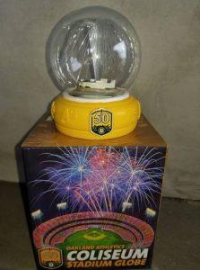Oakland Athletics Coliseum Stadium Globe 3-31-2018