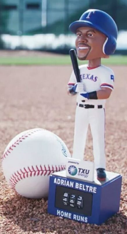 Texas Rangers Adrian Beltre Home Run Counter Bobblehead 5-31-18