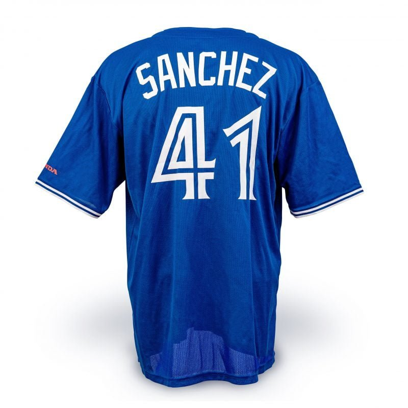 watch 9fc80 273d4 August 8, 2018 Toronto Blue Jays - Aaron Sanchez Blue ...