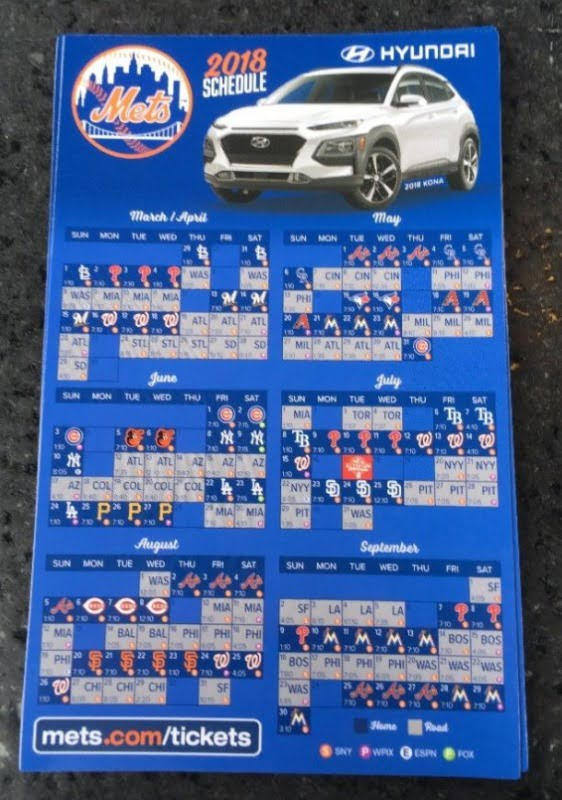 photograph regarding Printable Mets Schedule called Fresh york mets tickets 2018 - 47w614 way 38 maple park il 60151