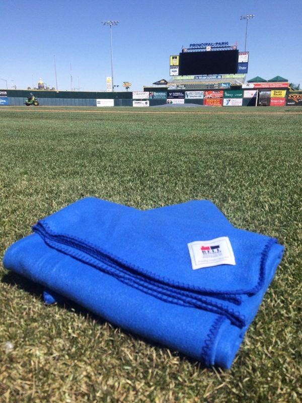 Iowa Cubs Fleece Blanket 4-5-2018