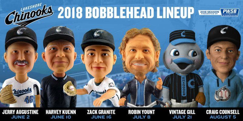 Lakeshore Chinooks 2018 Bobbleheads